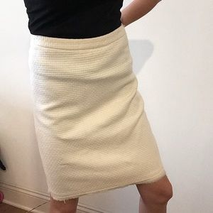 Banana Republic Ivory Pencil Skirt
